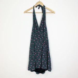 Pins & Needles Floral Halter Top Mini Dress Size S